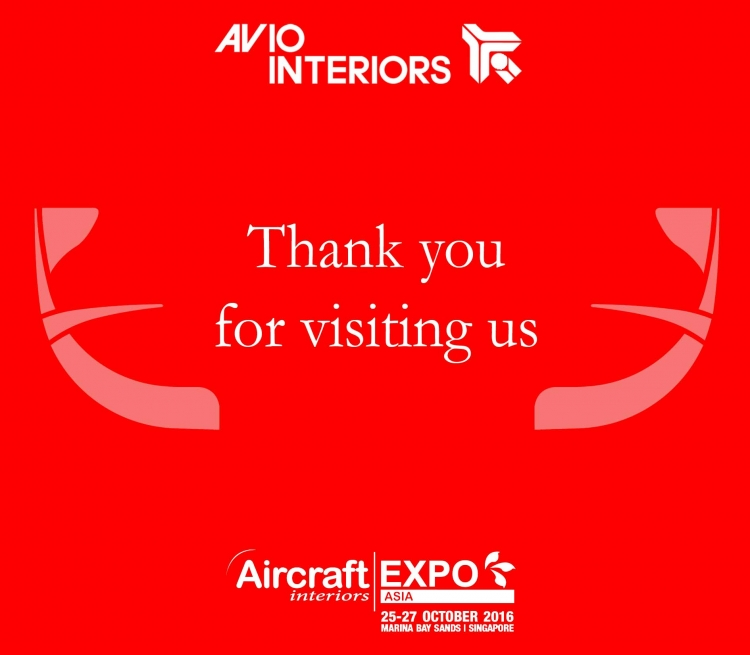 Thank you for visiting us at Aircraft Interiors Asia in Singapore