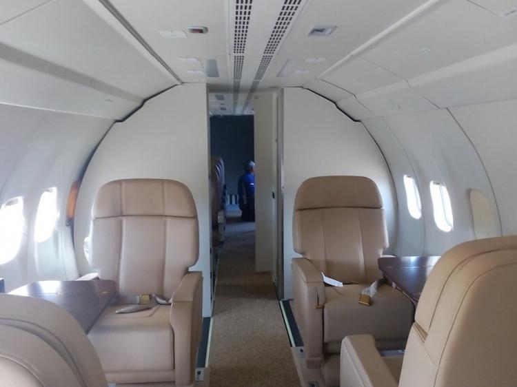 Aviointeriors shows the aircraft cabin CN235-220 VIP RTP