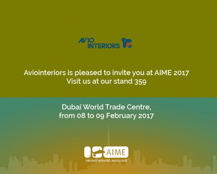 Visit us in Dubai next February, stand 359