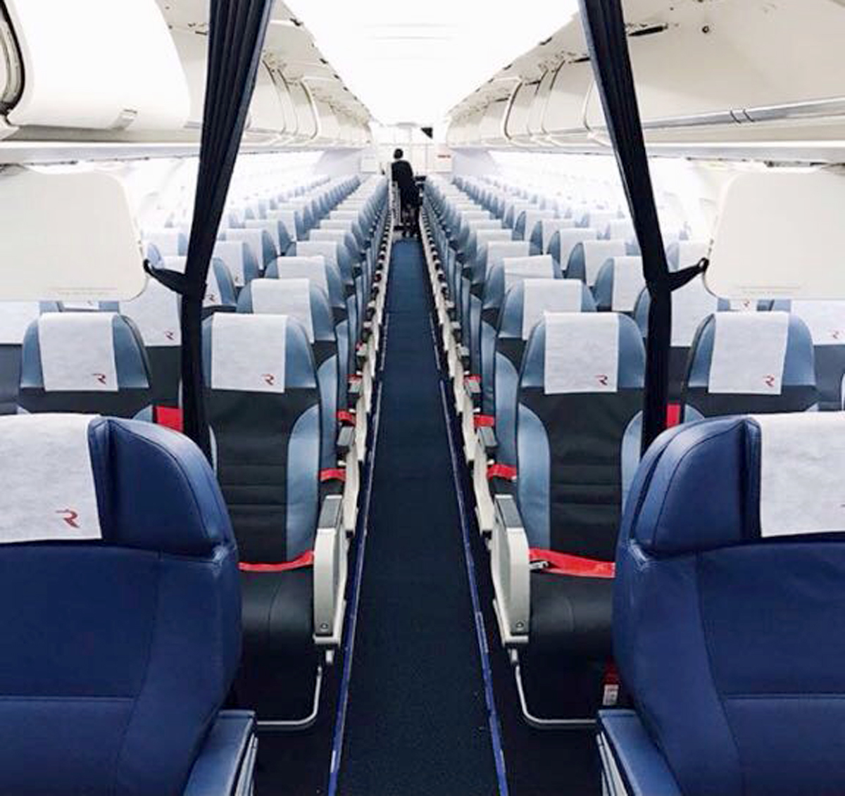 New seats on A319 of Rossiya Airlines