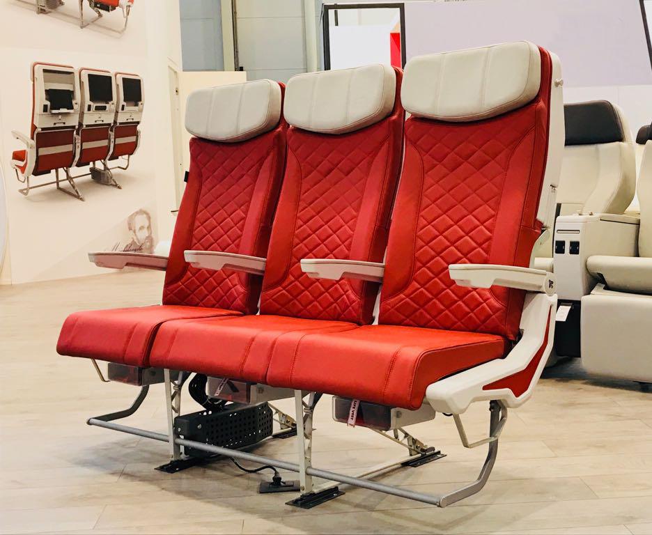 Aviointeriors new Economy Class seat – MICHELANGELO
