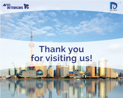 Thank you for Aircraft Interiors Expo in Shanghai