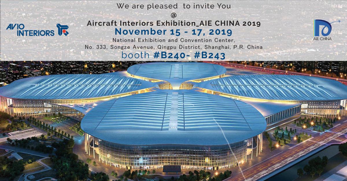 AIRCRAFT INTERIORS EXHIBITION CHINA – SHANGHAI 2019