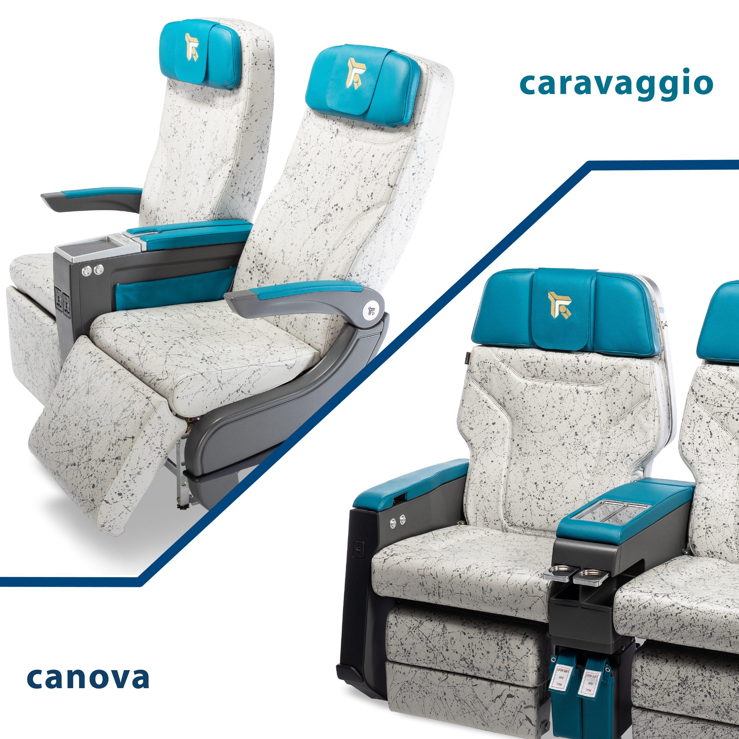 Hamburg AIX Expo 2019: Canova and Caravaggio seat